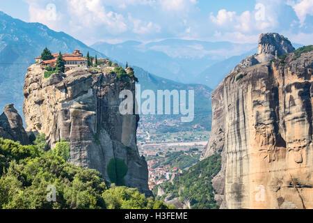 Holy Trinity Monastery. Meteora, Greece - Stock Photo