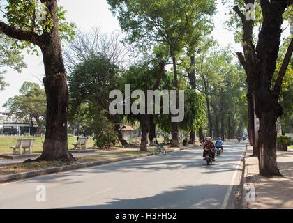 Pokambor Avenue in Siem Reap,Cambodia. - Stock Photo