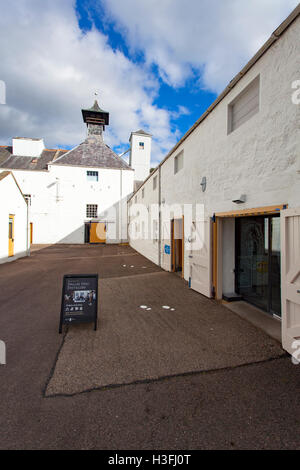 Dallas Dhu Whisky distillery and museum shop entrance, Scotland, UK - Stock Photo