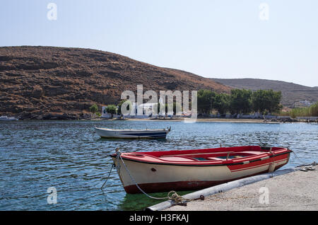 Picturesque gulf in Kythnos island, Cyclades, Greece - Stock Photo