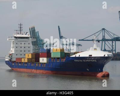 Kristin Schepers (ship, 2007) IMO 9404089 Callsign 5BPU2 Port of Antwerp pic2 - Stock Photo
