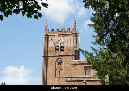 All Saints Church, Wroxton, North Oxfordshire, England, UK - Stock Photo