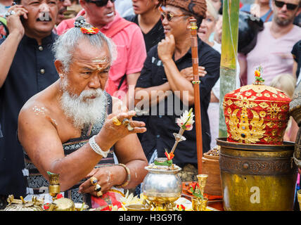 Priest in a cremation ceremony. - Stock Photo