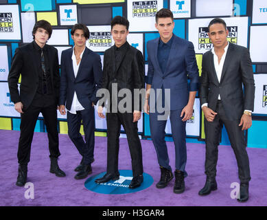 Hollywood, California, USA. 6th Oct, 2016. CNCO attends the 2016 Latin American Music Awards at Dolby Theatre on - Stock Photo