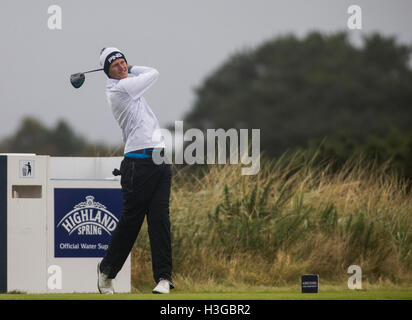 Carnoustie Golf Course, Fife, Scotland. 07th Oct, 2016. Alfred Dunhill Links Championship Golf 2nd Round. Matteo - Stock Photo