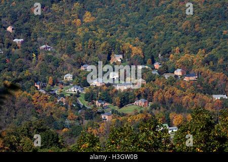 Fall landscape in Blue Ridge Mountains, Virginia - Stock Photo