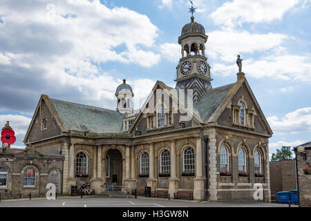 The Guildhall and Art Gallery, Market Place, Thetford, Norfolk, England, United Kingdom - Stock Photo
