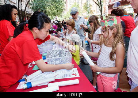 Manhattan New York City NYC NY Chelsea Rubin Museum of Art Block Party yearly event festival Nepal theme children's - Stock Photo