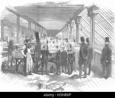 ARTISTS Royal visit to Day's Lithographers 1856. Illustrated London News - Stock Photo