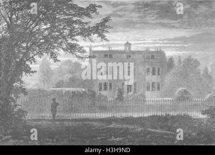 KENT Charles Dickenss House, Gad's Hill 1870. The Graphic - Stock Photo