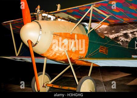 German fighter plane, Albatros, from World War One - Stock Photo