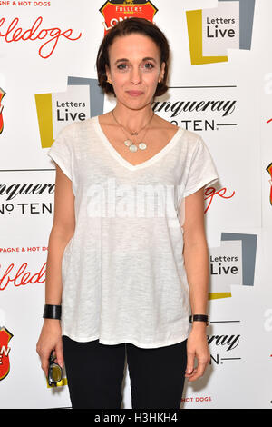 Amanda Abbington attends the final night of Letters Live, at the Freemasons Hall in London. PRESS ASSOCIATION Photo. - Stock Photo