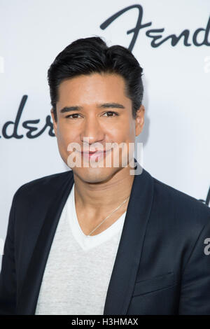 Mario Lopez attends Fender Hollywood Office Grand Opening Celebration at Fender Musical Instruments Corporation - Stock Photo