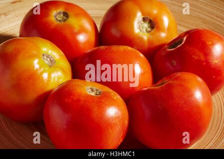 ripe beefsteak tomatoes - Stock Photo