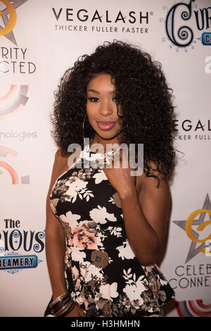 Porscha Coleman arrives at Celebrity Connected 2016 Luxury Gifting Suite red carpet Honoring The Emmys® at the W - Stock Photo