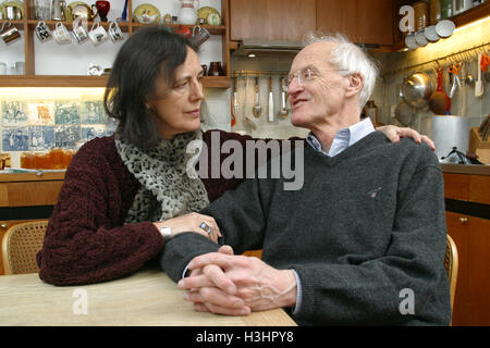 Authors Claire Tomalin and husband Michael Frayn, were both  shortlisted for the Whitbread Prize in 2003 - Stock Photo