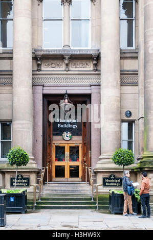 The Municipal Buildings on Dale Street are the main administrative centre for Liverpool City Council. - Stock Photo
