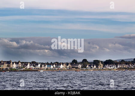 Findhorn Bay seen on a choppy day - Stock Photo