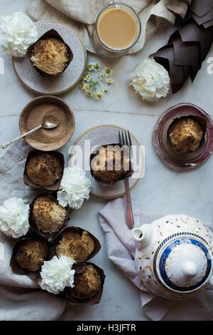 Coffee Cake Muffins - Stock Photo