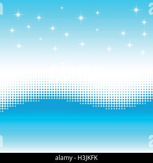Wave background with halftone effect. Stars, snow wave. - Stock Photo