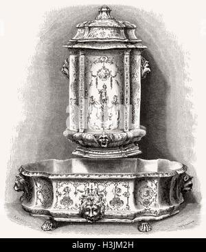 Faience de Moustiers Sainte-Marie, France, 19th century - Stock Photo