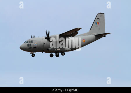 Alenia C-27J Spartan light transport aircraft of the Romanian Air Force - Stock Photo