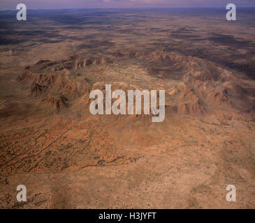 Gosse Bluff a meteorite crater created by a massive cosmic impact about 130 million years ago. - Stock Photo