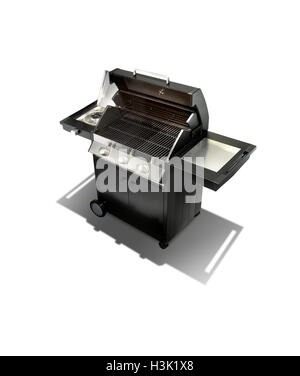 A simple studio shot of a new gas barbecue - Stock Photo