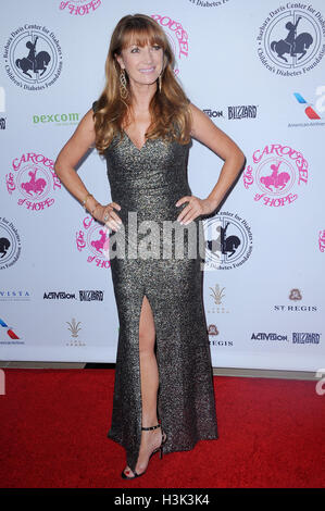 Beverly Hills, California, USA. 8th October 2016. Jane Seymour at the 2016 Carousel Of Hope Ball held at the Beverly - Stock Photo