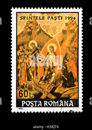 Postage stamp from Romania depicting Easter. - Stock Photo