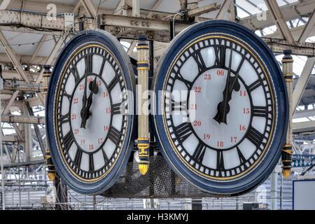 The Clock, Waterloo Station, London, England, UK - Stock Photo