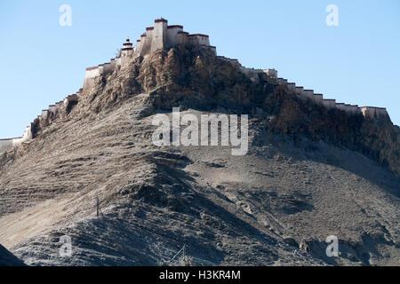 Fort, Gyangtse, Tibet - Stock Photo