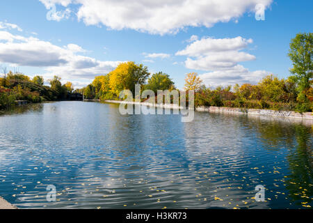 A view of the Soulange Canal. - Stock Photo