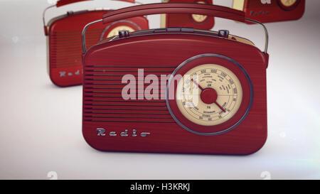 3D rendering of radio receivers - Stock Photo