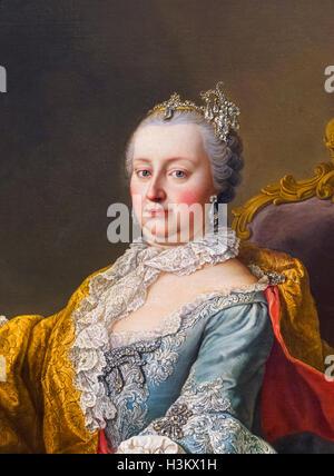 Maria Theresa. Portrait of the Empress Maria Theresa of Austria (1717-1780) by Martin van Meytens, 1759. - Stock Photo