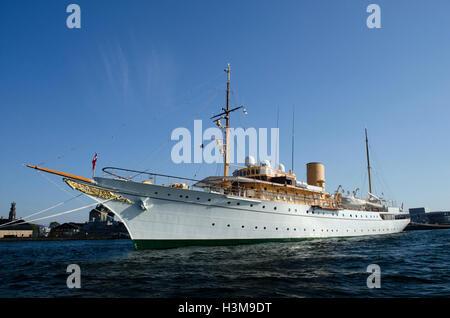 HDMY Dannebrog,royal yacht,copenhagen - Stock Photo