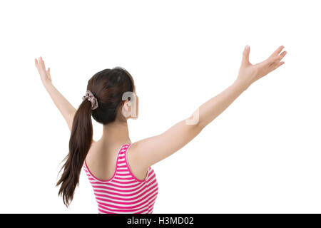 Asian woman feel free - Stock Photo