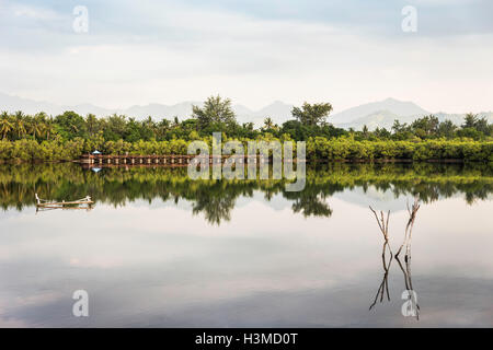 View of lake, Gili Meno, Lombok, Indonesia - Stock Photo