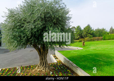 The Domus Galilaeae (House of Galilee) Monastery, on the peak of Mount of Beatitudes, Israel - Stock Photo