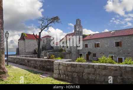 Inside the fortress of the Old Town. Budva, Montenegro. - Stock Photo