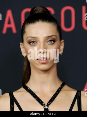 Hollywood, California, USA. 10th Oct, 2016. Angela Sarafyan arrives for the premiere of the film 'The Accountant' - Stock Photo