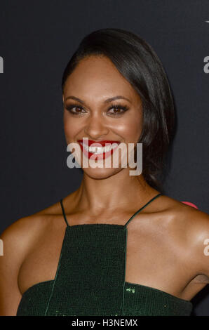 Hollywood, Ca. 10th Oct, 2016. Cynthia Addai-Robinson at The Accountant World Premiere at the Chinese Theater in - Stock Photo