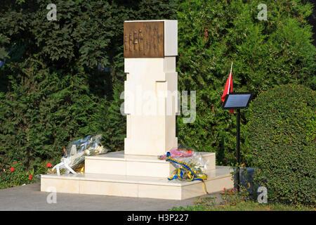 Monument for the victims of the Kosovo War in Pristina, Kosovo - Stock Photo
