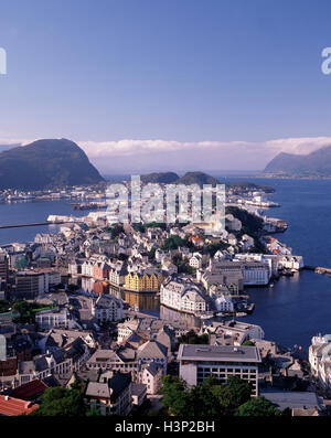 Aalesund, More og Romsdal, Norway - Stock Photo