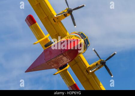 Canadair CL-415 aircraft Croatian Air Force HRZ Croatia Zemunik near Zadar - Stock Photo