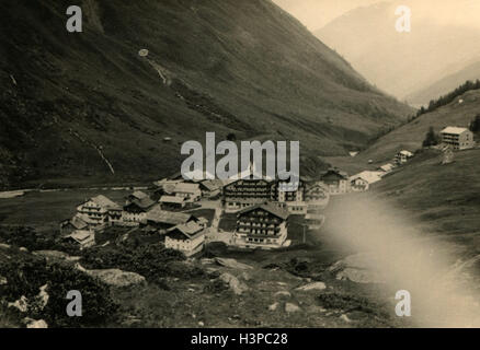 GERMANY - CIRCA 1960s: hotel in the Alps - Stock Photo