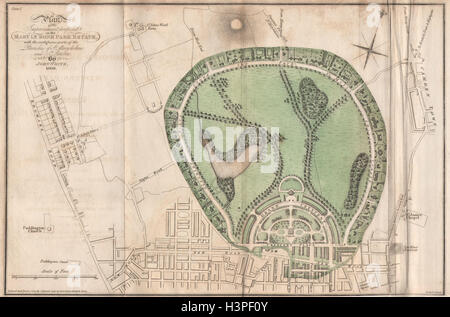John White's Regent's Park plan. Marylebone Park Estate. St John's Wood 1815 map - Stock Photo