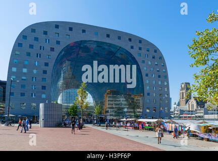 The Markthal (Market Hall), Rotterdam, Netherlands - Stock Photo