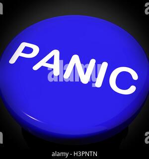 Panic Switch Shows Anxiety Panicking Distress - Stock Photo
