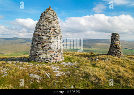 Wild Boar Fell, Mallerstang, in The Yorkshire Dales - Stock Photo